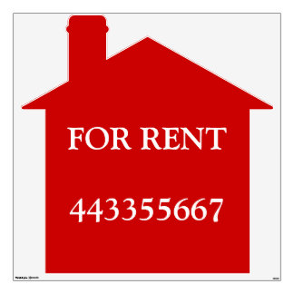 Home for Rent Wall Sticker