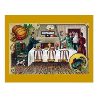 Home For Thanksgiving Postcard at Zazzle