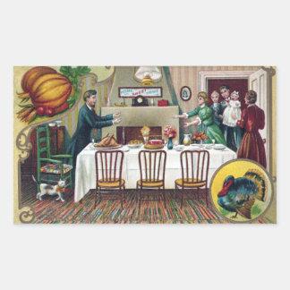 Home for Thanksgiving Rectangular Sticker