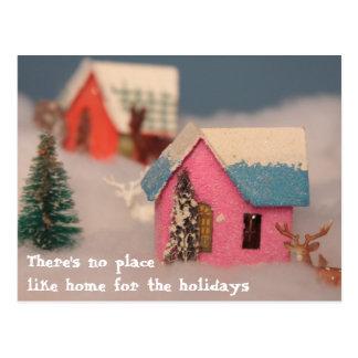 Home for the hoildays postcard