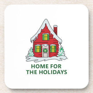 HOME FOR THE HOLIDAYS DRINK COASTER