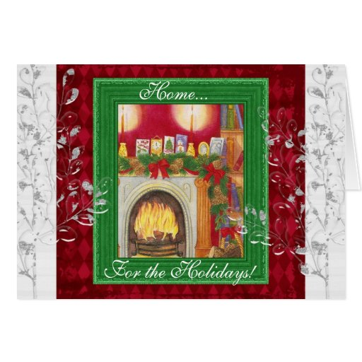 Home for the holidays! greeting card
