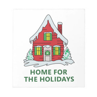 HOME FOR THE HOLIDAYS NOTEPADS