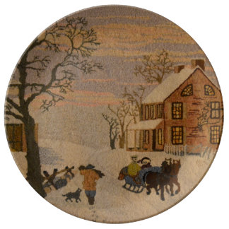Home For The Holidays Porcelain Plate