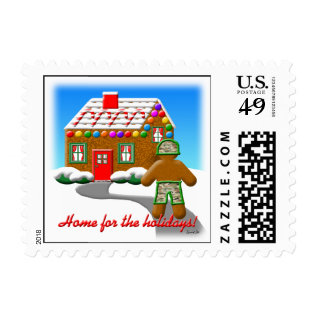 HOME FOR THE HOLIDAYS POSTAGE at Zazzle