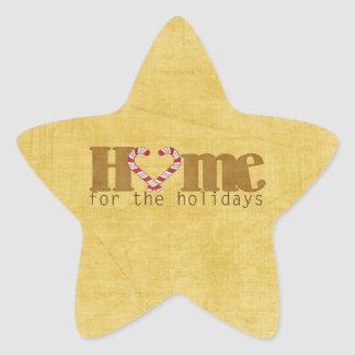 Home for the Holidays Star Sticker