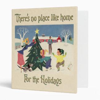 Home for the Holidays Vintage Scene Binder