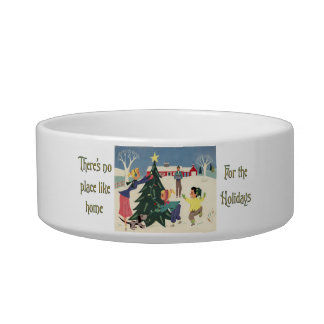 Home for the Holidays Vintage Scene Bowl