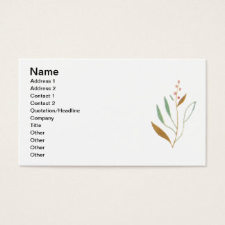 Home for the Holidays Vintage Scene Business Card