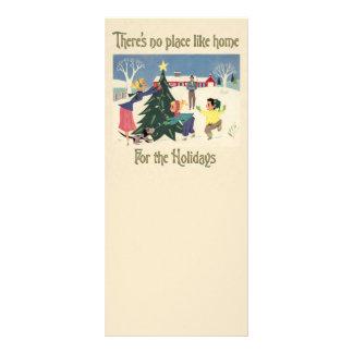Home for the Holidays Vintage Scene Custom Rack Cards