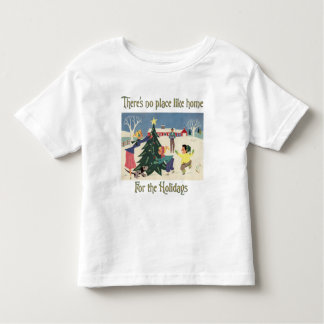 Home for the Holidays Vintage Scene Toddler T-shirt