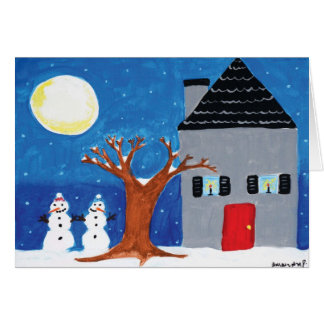 "Home for the Holidays with ""Happy Holidays"" Card"