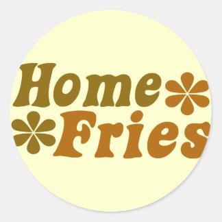 Home Fries Classic Round Sticker