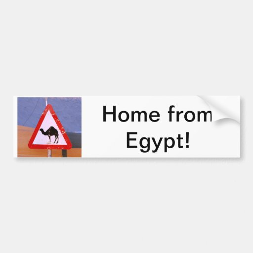 Home from Egypt Bumper Sticker