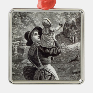 Home from Market, from 'Leisure Hour', 1888 Metal Ornament