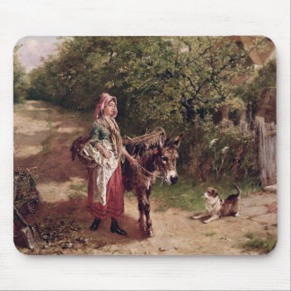 Home from Market (oil on canvas) Mouse Pad