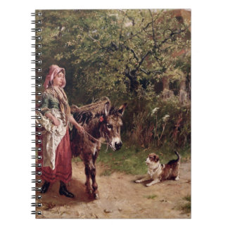 Home from Market (oil on canvas) Notebook