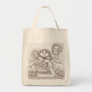 Home From the Market  Ukrainian Fantasy Art Grocery Tote Bag