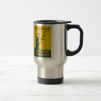Home Front Join the Land Army WWI Propaganda 15 Oz Stainless Steel Travel Mug