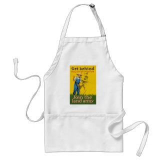 Home Front Join the Land Army WWI Propaganda Adult Apron