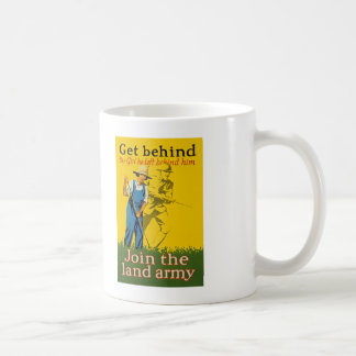 Home Front Join the Land Army WWI Propaganda Classic White Coffee Mug
