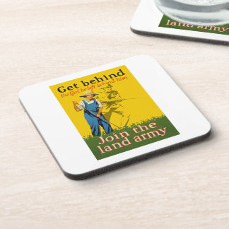 Home Front Join the Land Army WWI Propaganda Drink Coaster