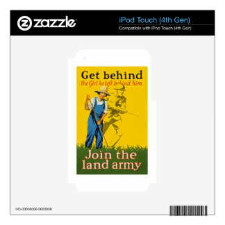 Home Front Join the Land Army WWI Propaganda iPod Touch 4G Skin