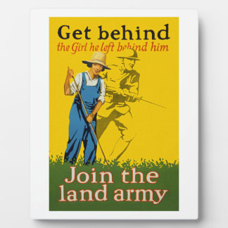 Home Front Join the Land Army WWI Propaganda Plaque