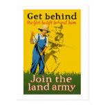 Home Front Join the Land Army WWI Propaganda Postcard