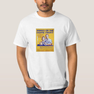 Home Front, Vintage WWII Civil Defense Poster Tee