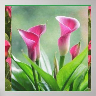Home Garden : Pink Flower Decorations Poster