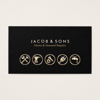 Home General Repairs Gold Icons Business Card