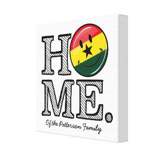 Home Ghana Smiling Flag Housewarming Canvas Print