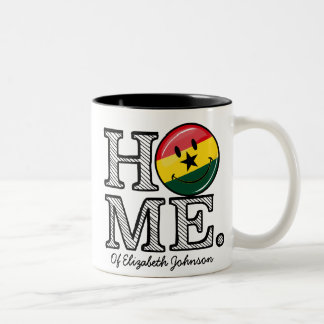Home Ghana Smiling Flag Housewarming Two-Tone Coffee Mug