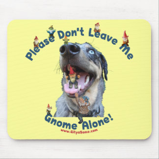 Home Gnome Alone Dog Mouse Pad