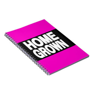 Home Grown 2 Pink Spiral Note Book