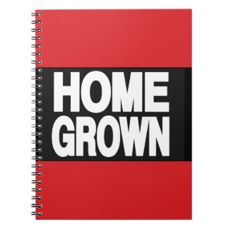 Home Grown 2 Red Spiral Notebooks