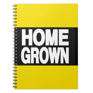 Home Grown 2 Yellow Spiral Note Books