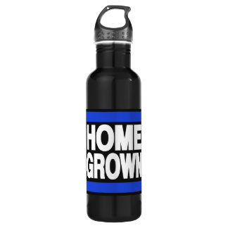 Home Grown Blue 24oz Water Bottle