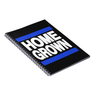 Home Grown Blue Spiral Note Books