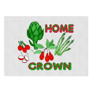 Home Grown Large Business Cards (Pack Of 100)