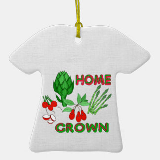 Home Grown Double-Sided T-Shirt Ceramic Christmas Ornament