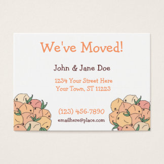 Home Grown, Peach, We've Moved! Business Card