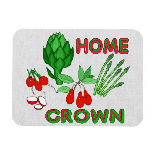 Home Grown Rectangular Photo Magnet