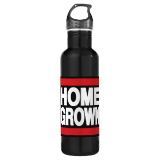 Home Grown Red 24oz Water Bottle