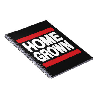 Home Grown Red Spiral Note Books