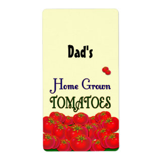 Home Grown Tomatoes Custom Label