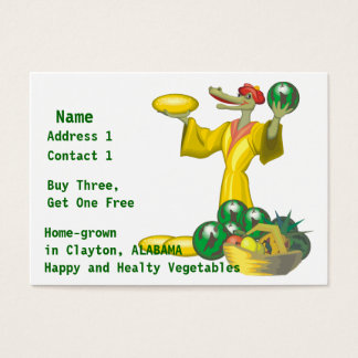 Home-grown Vegetables Business Card