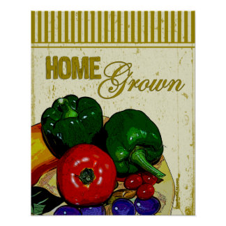Home Grown Vegetables Poster