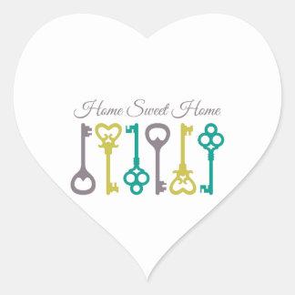 Home Guest Keys Heart Sticker